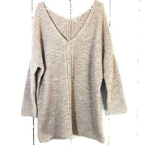 Anthropologie Moth Wool Alpaca Chunky Knit Sweater